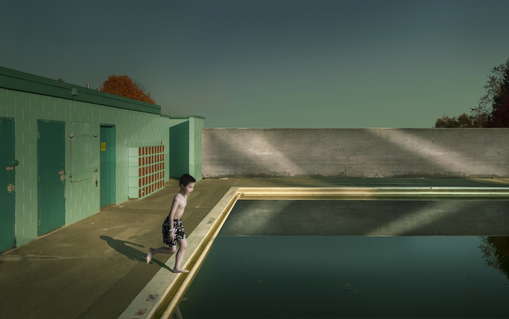 A piece of fine art art photography titled Swimming Pool by Fang Tong