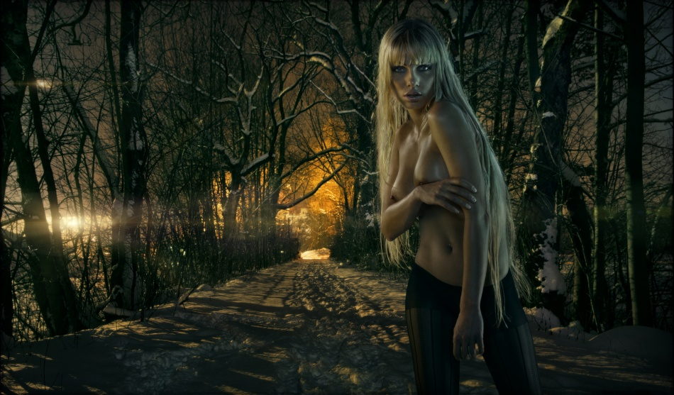 A piece of fine art art photography titled Forest by felipmars
