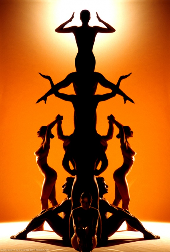 A piece of fine art art photography titled Human Totem by Carnisch