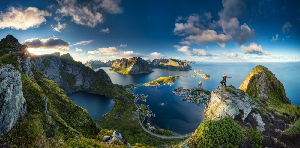 A piece of fine art art photography titled Reinebringen Views by Dr. Nicholas Roemmelt