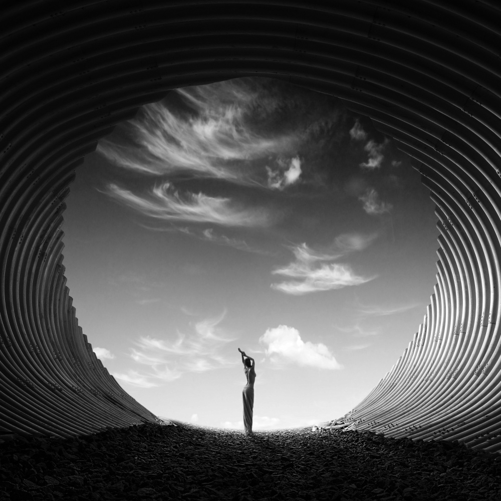 A piece of fine art art photography titled Untitled by David Dubnitskiy