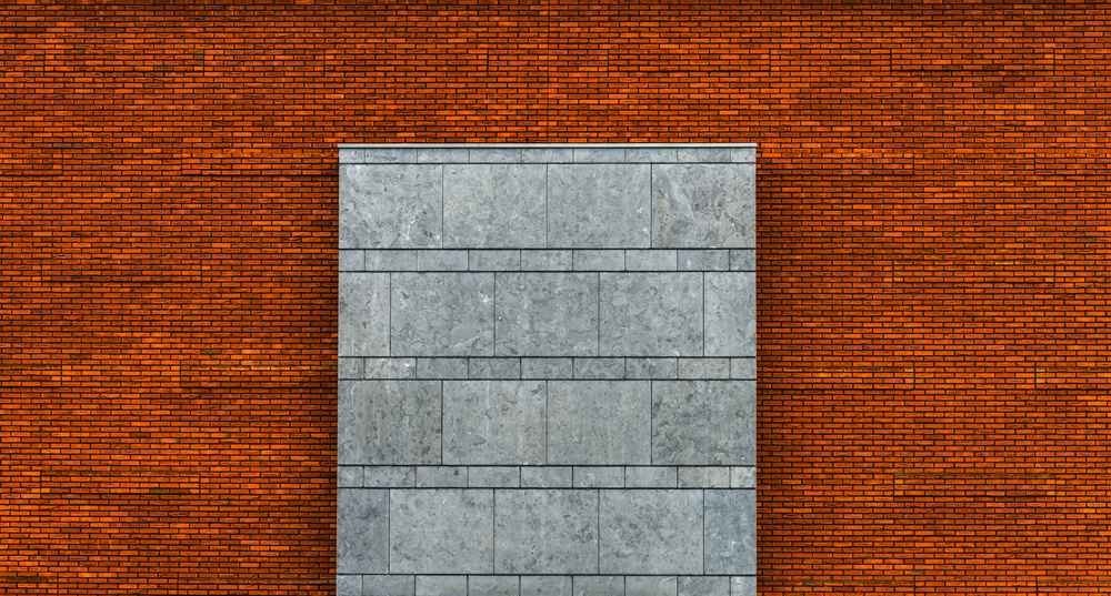A piece of fine art art photography titled Grey On Orange-Red by minimalist