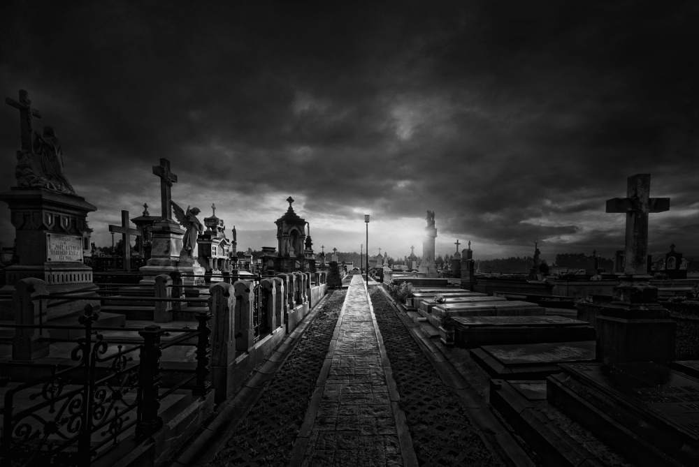 A piece of fine art art photography titled Cemetery II by Jose C. Lobato