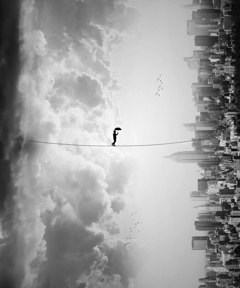 A piece of fine art art photography titled Crossing by Ivan Marlianto