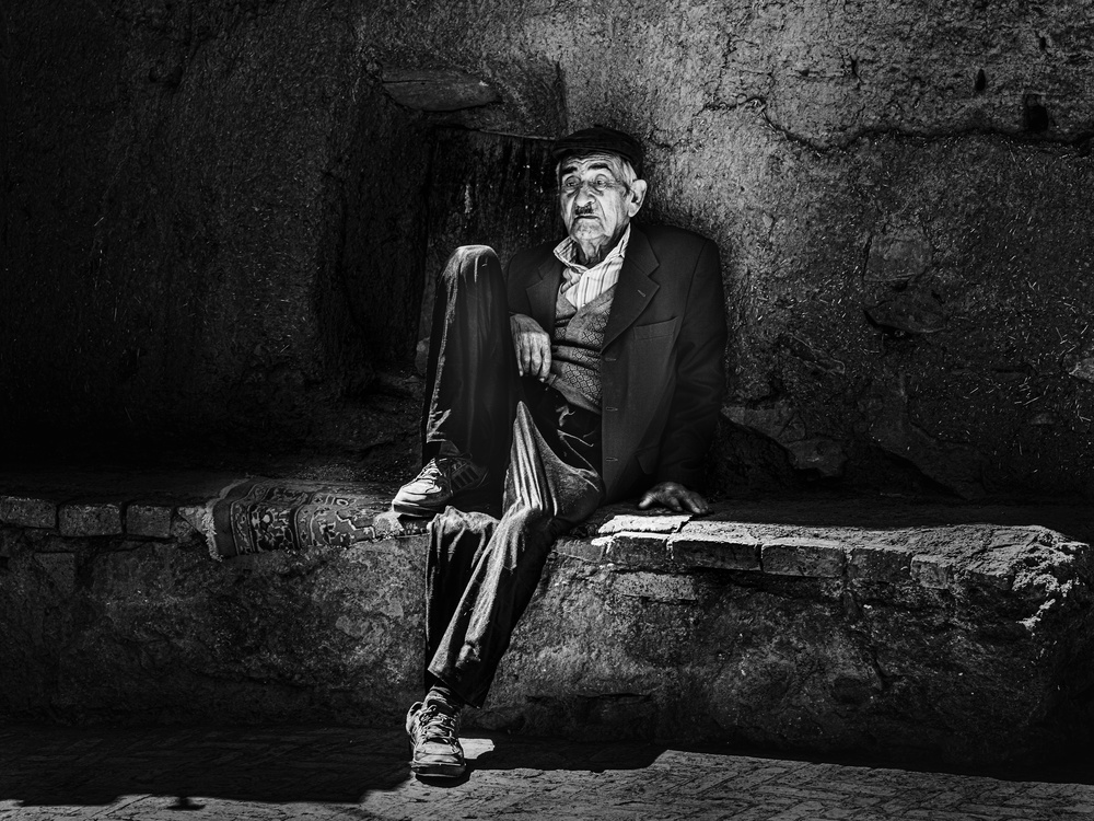 A piece of fine art art photography titled Old Man by Hans Lahodny