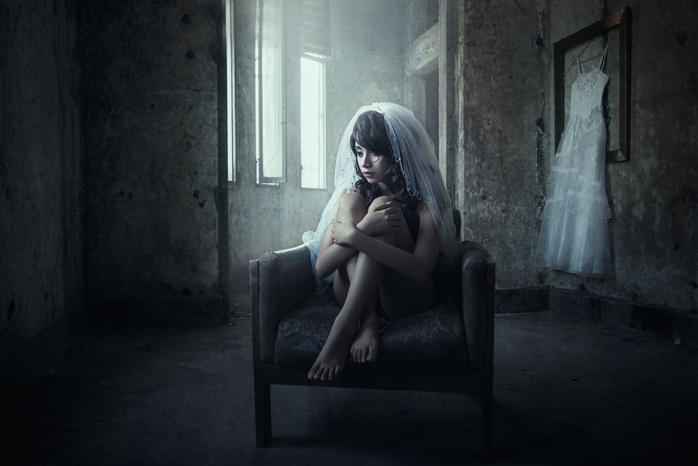 A piece of fine art art photography titled Lonely Bride by Nicholas Surya Wibowo