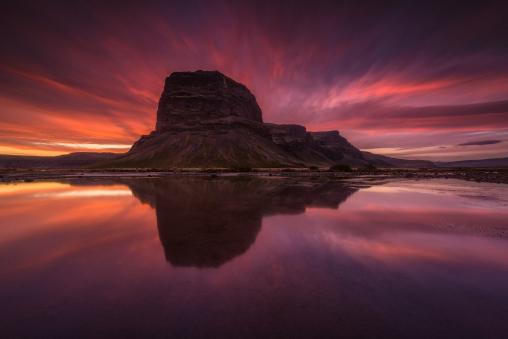 A piece of fine art art photography titled Lómagnúpur by Raymond Hoffmann