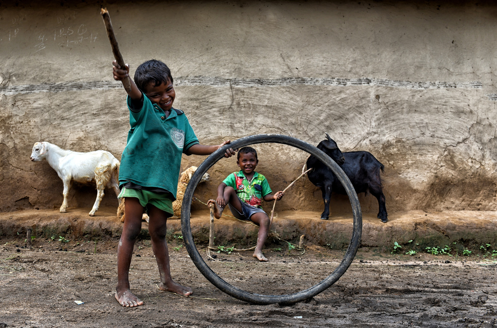 A piece of fine art art photography titled Joy of Childhood by Avishek Das