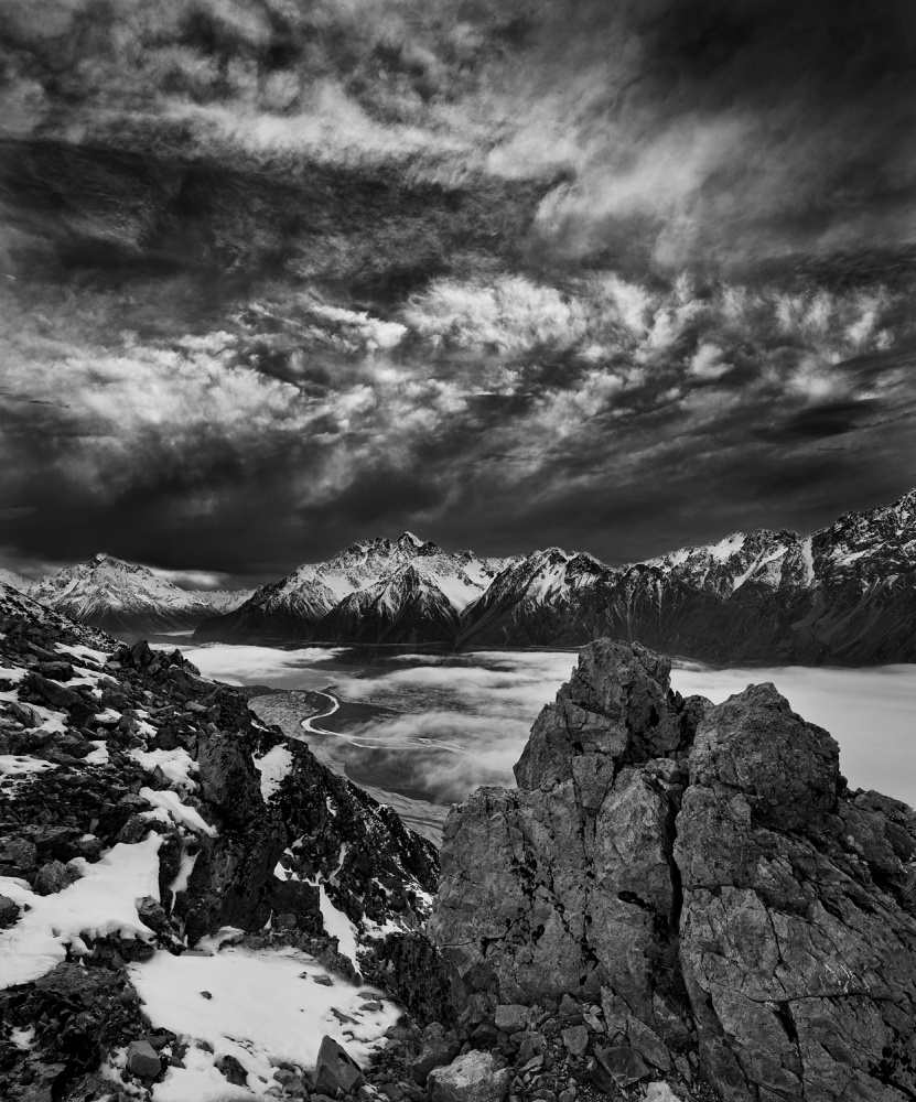 A piece of fine art art photography titled Tasman Valley by Yan Zhang
