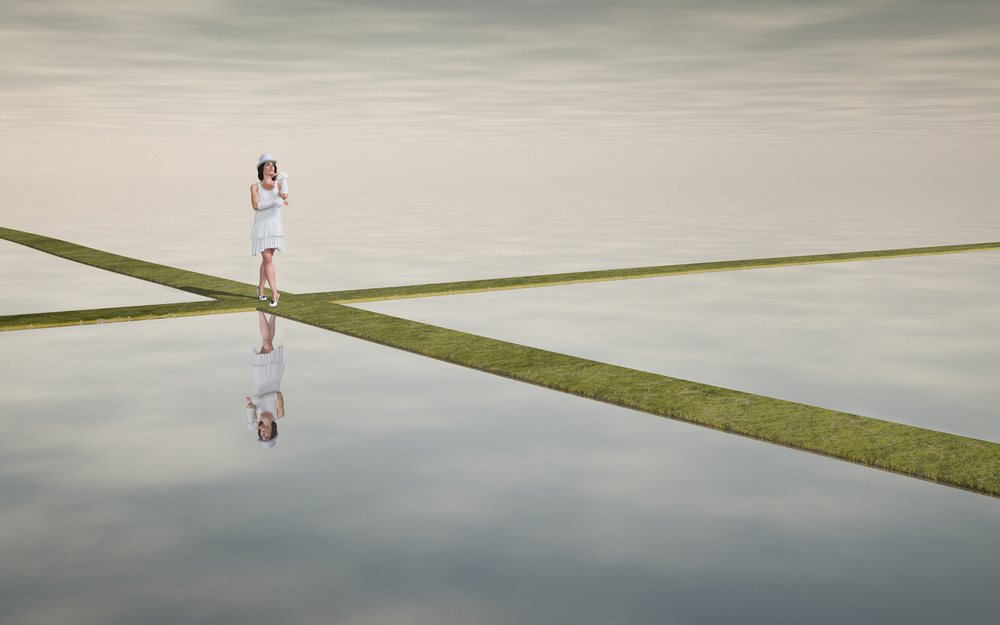 A piece of fine art art photography titled The Decision by Esther Margraff