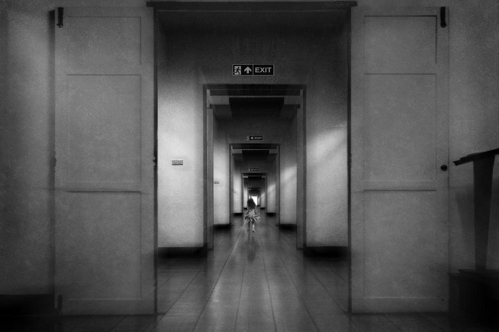 A piece of fine art art photography titled Exit by Ekkachai Khemkum