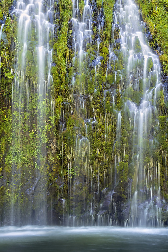 A piece of fine art art photography titled Mossbrae Falls by Hua Zhu