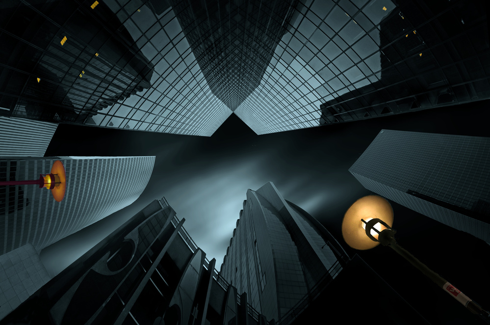 A piece of fine art art photography titled Night In Blue by pierre bacus