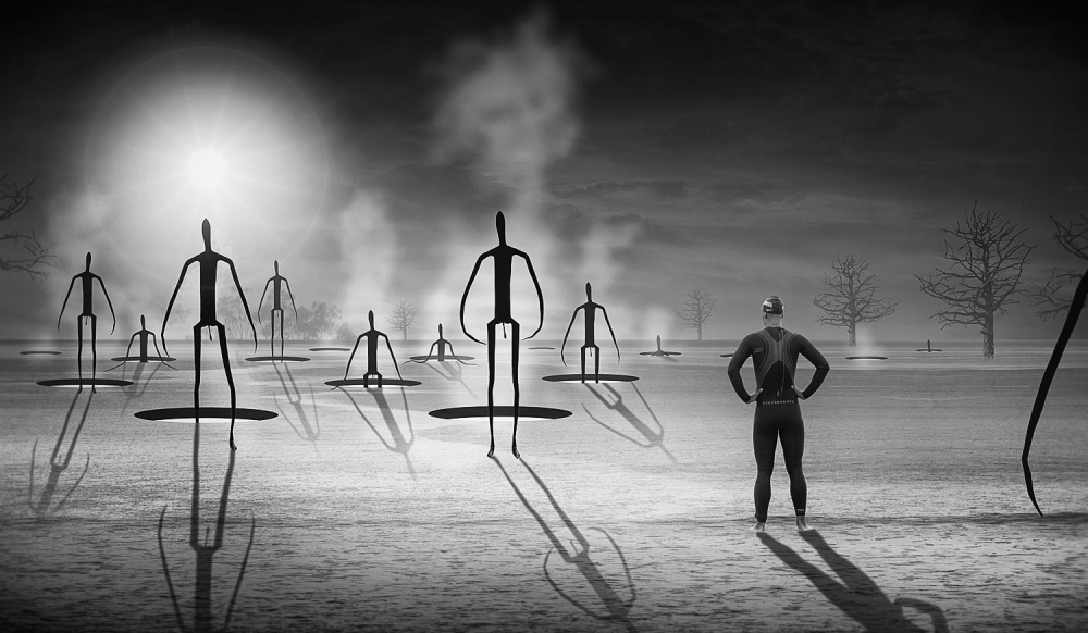 A piece of fine art art photography titled Rise of the Matchstick Men by Adrian Donoghue