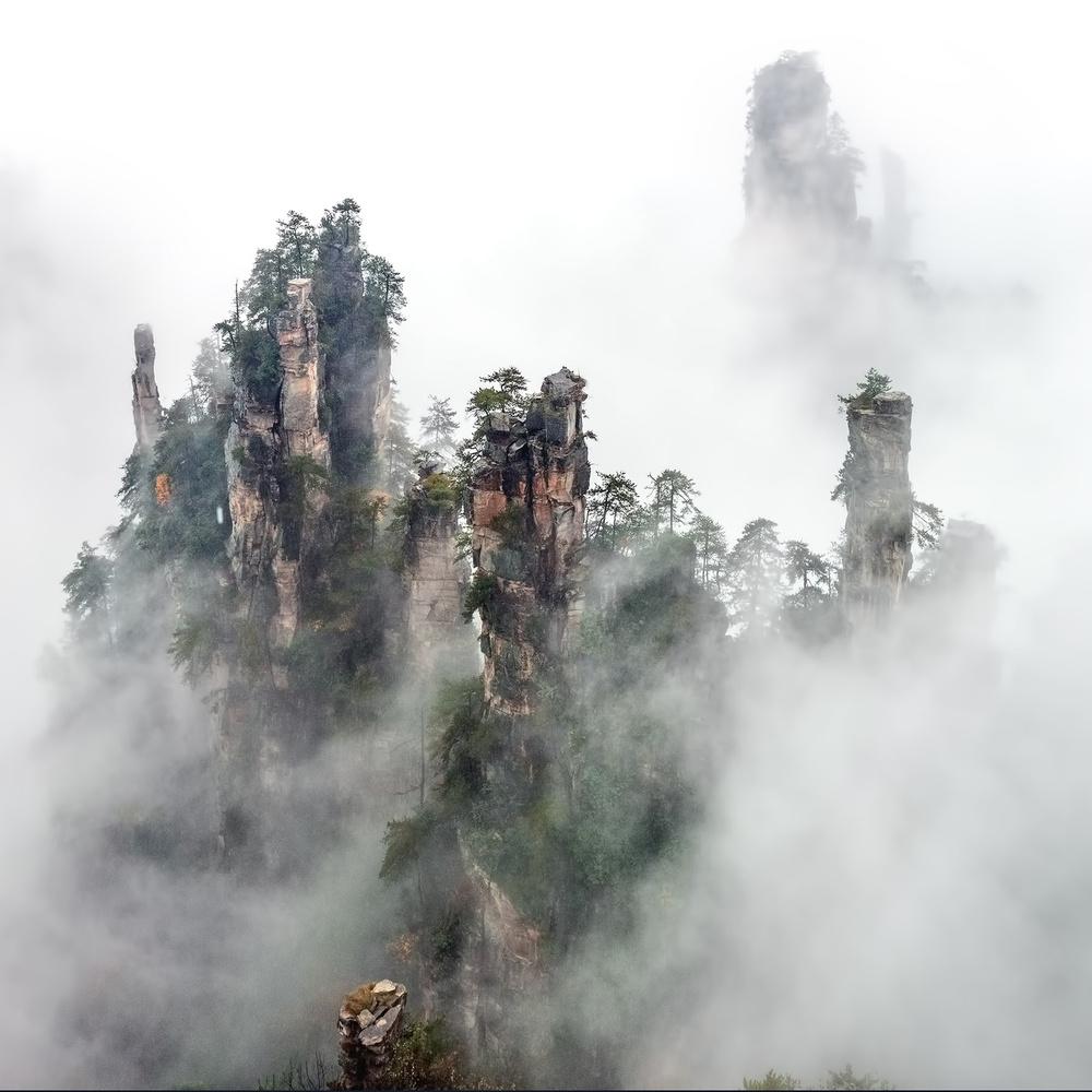 A piece of fine art art photography titled Zhangjiajie by Hua Zhu
