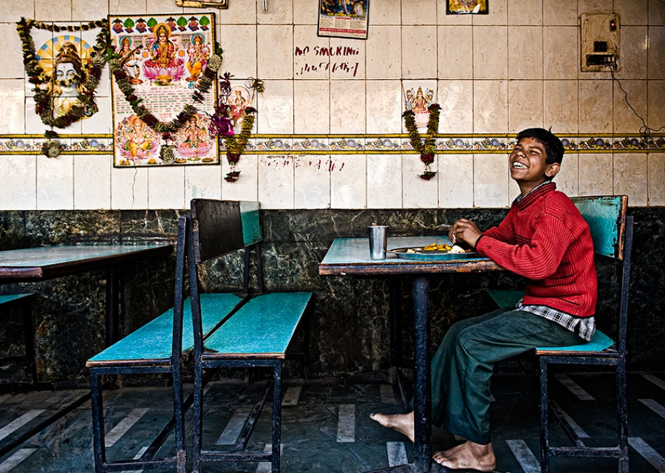 A piece of fine art art photography titled Funny Meal by Prateek Dubey