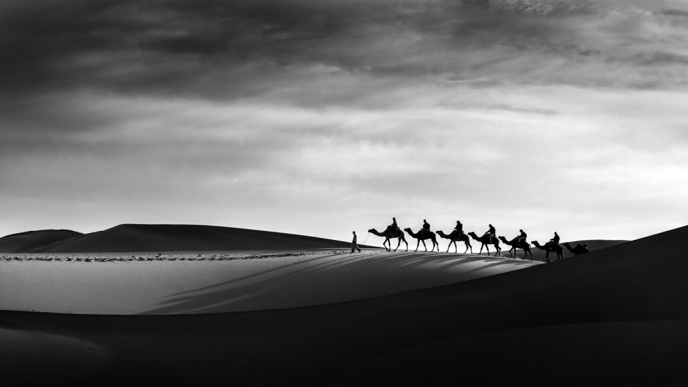 A piece of fine art art photography titled The Caravan Passes by Norbert Becke