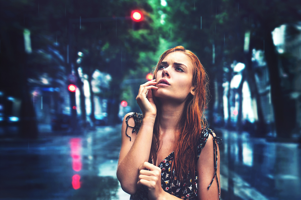 A piece of fine art art photography titled Rain and Tears by Julie de Waroquier