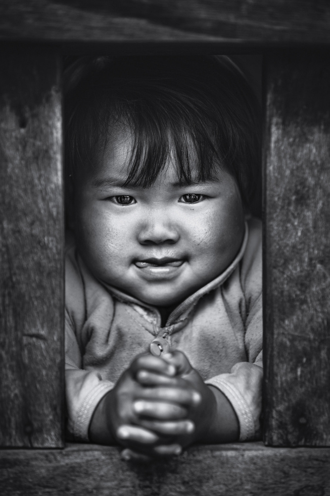 View this piece of fine art photography titled Young eyes of Shan State by Marco Tagliarino