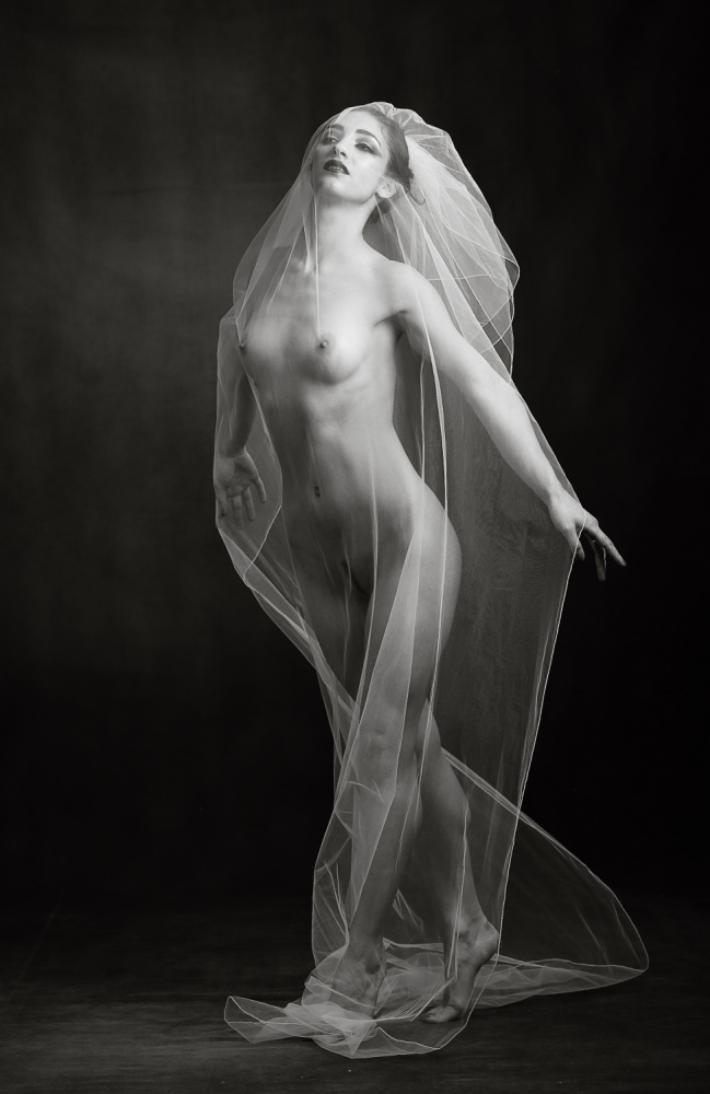 A piece of fine art art photography titled Sheer Bridal by Ross Oscar