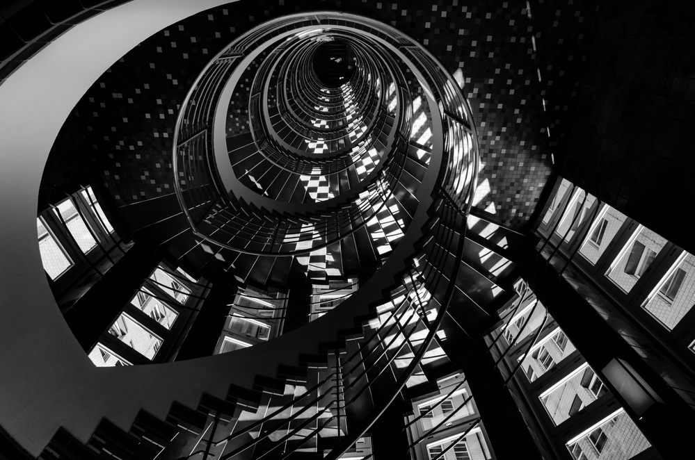 View this piece of fine art photography titled Stairs to Suspense by Anna Wacker / Martin Wacker
