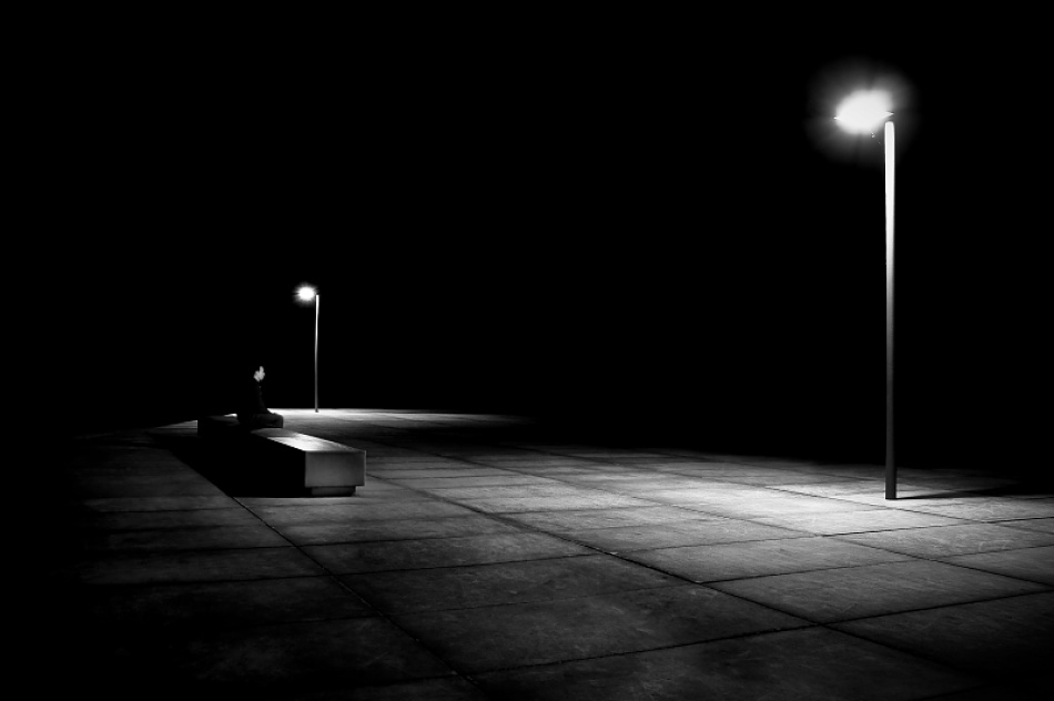 A piece of fine art art photography titled Solitary by Tim Corbeel