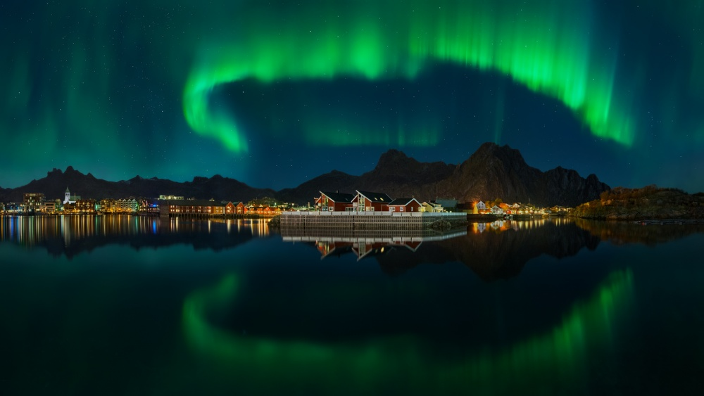 A piece of fine art art photography titled The Kingdom of the Northern Lights by Pawel Kucharski