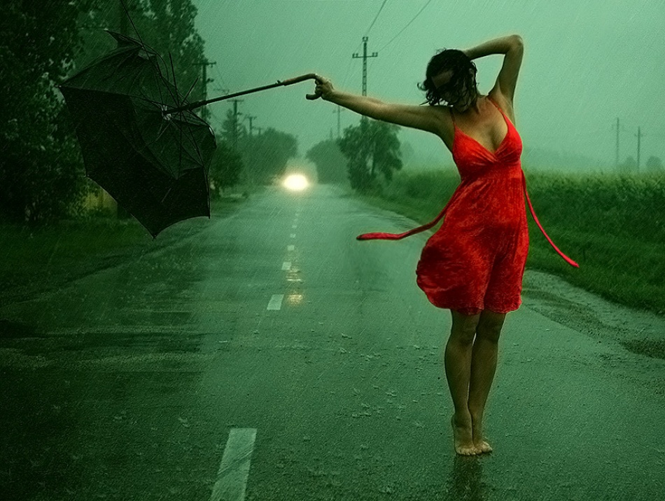 A piece of fine art art photography titled Dancing In the Storm by Gabor Csorgo