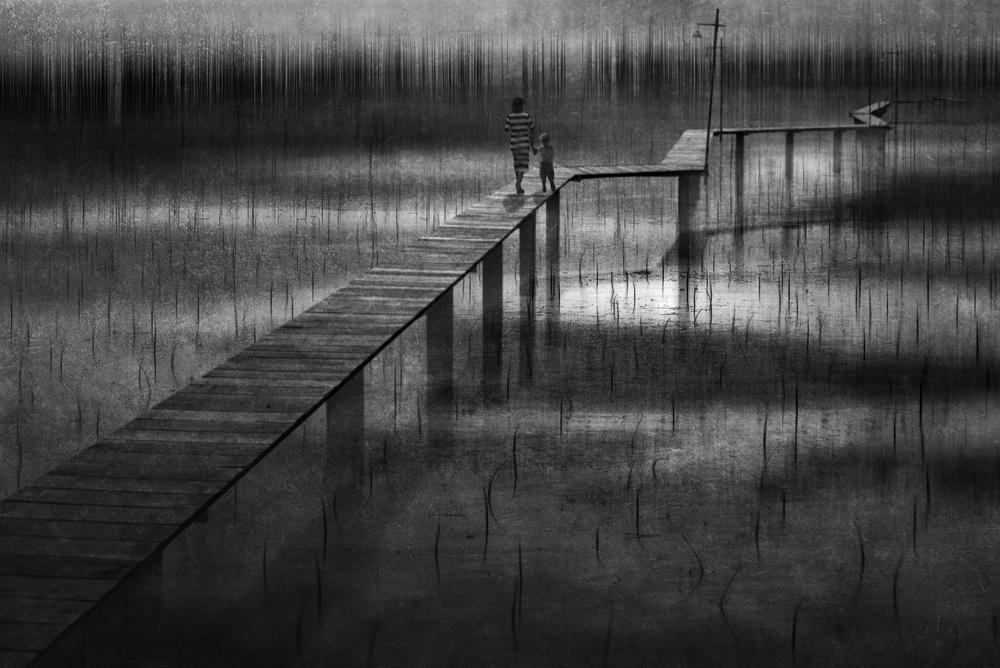 A piece of fine art art photography titled Through the Field of Beginning by Ekkachai Khemkum