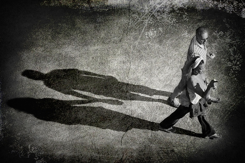 A piece of fine art art photography titled Shadow In Love by TRP