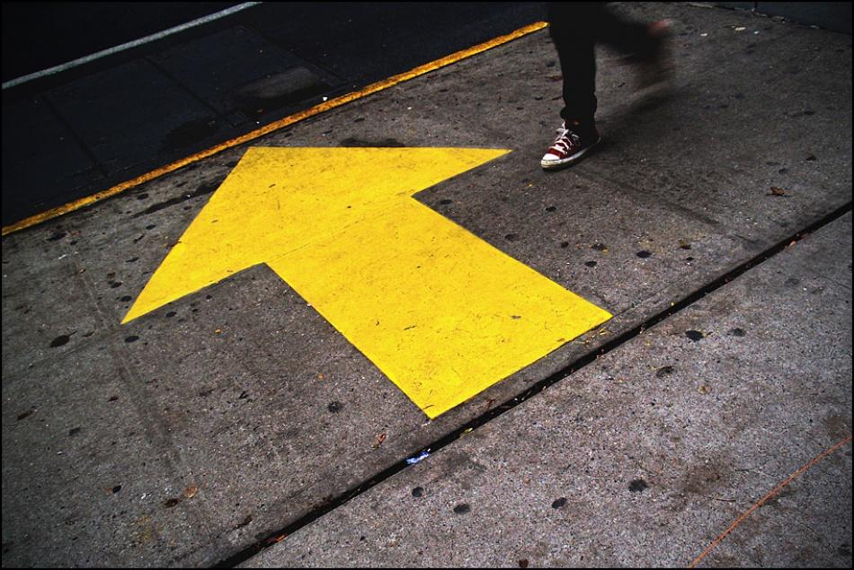 A piece of fine art art photography titled Directions by sensorfleck