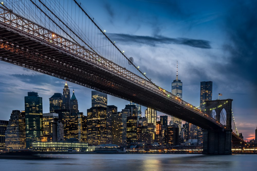 A piece of fine art art photography titled Manhattan from Dumbo by ILKER OZMEN