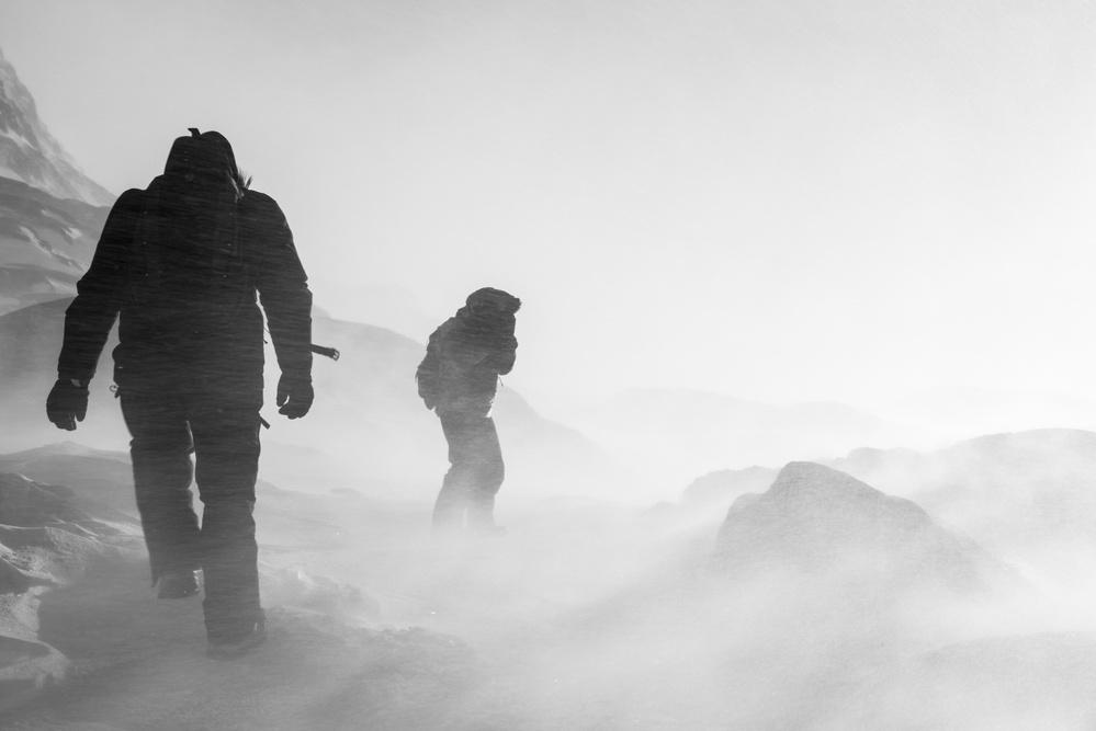 A piece of fine art art photography titled Snowstorm by Rasmus Hagen-Pedersen