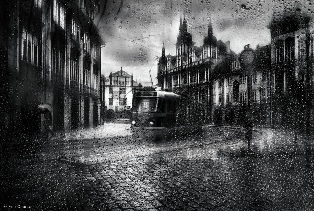 It was raining in Prague