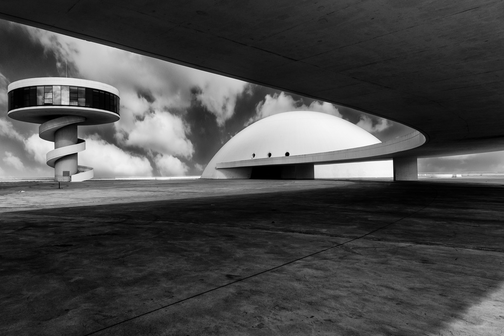 View this piece of fine art photography titled Niemeyer Cultural Center by Antonio Fortuna