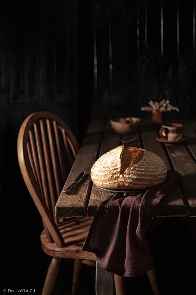 View this piece of fine art photography titled Mixed flour country bread by Denisa VLAICU