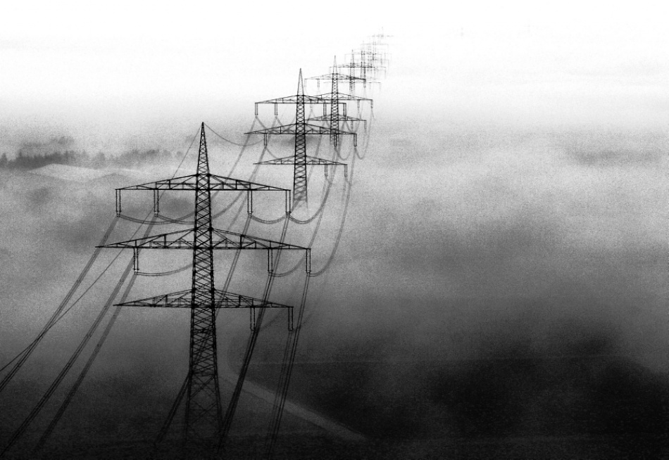 A piece of fine art art photography titled Powerline by Ralf Greiner