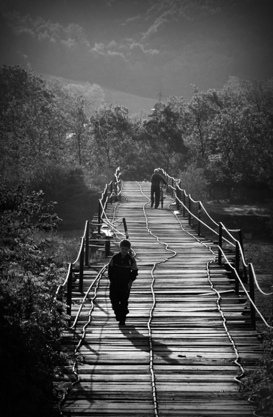 A piece of fine art art photography titled Bridge of Life by marius grozea