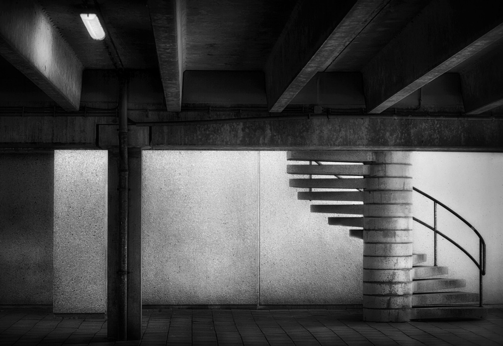 A piece of fine art art photography titled The Only Way Up by Marc Apers
