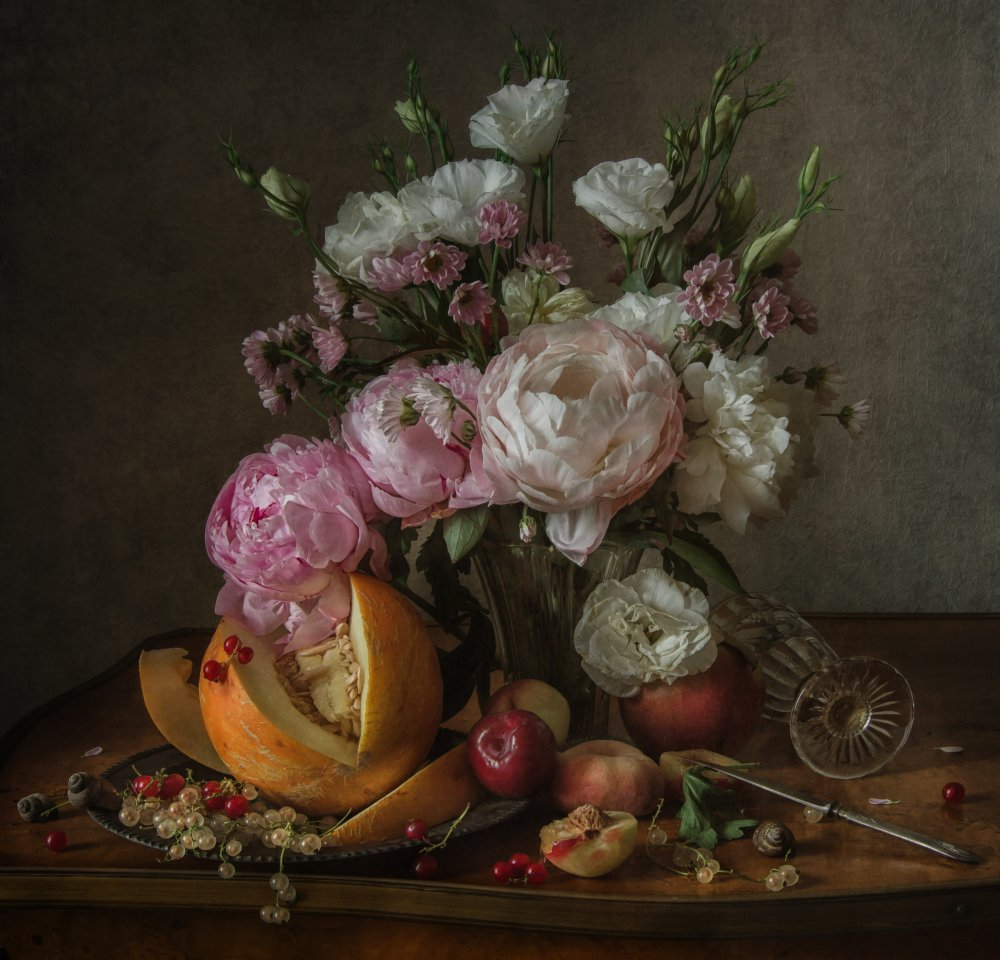 View this piece of fine art photography titled Flower and fruit by Anna Petina