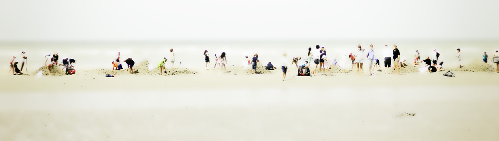 A piece of fine art art photography titled Day at the Beach (impression) by Jef Flour