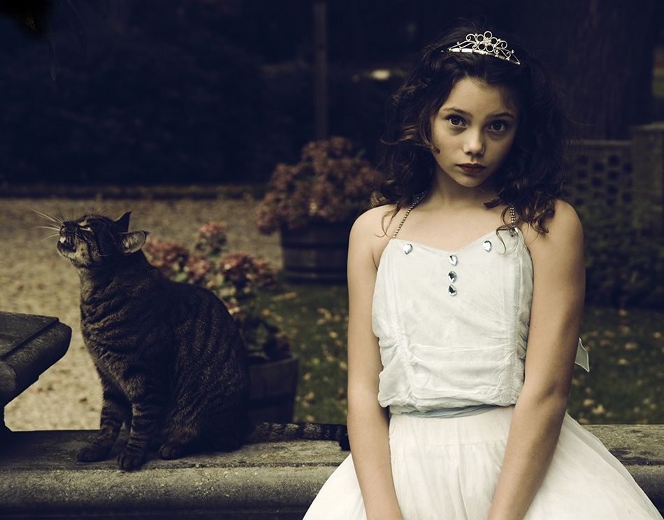 A piece of fine art art photography titled Tale of the Cat by carla broekhuizen