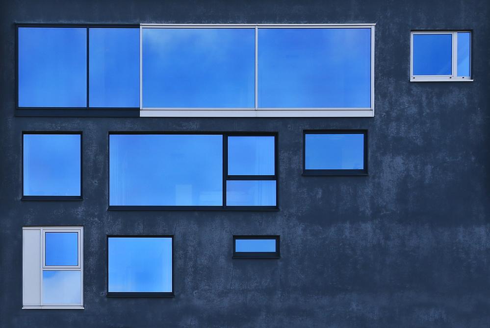 A piece of fine art art photography titled Windowsart by Jutta Kerber
