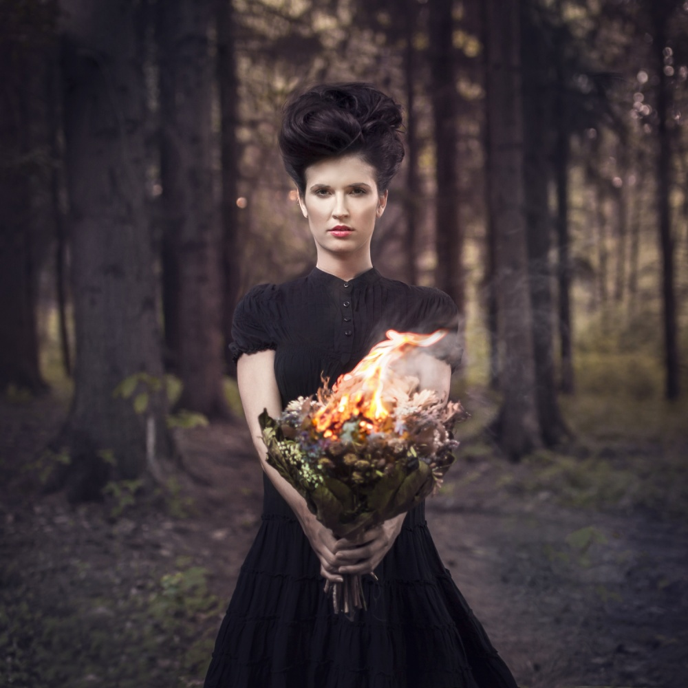 A piece of fine art art photography titled Burning Love by Michal Zahornacky