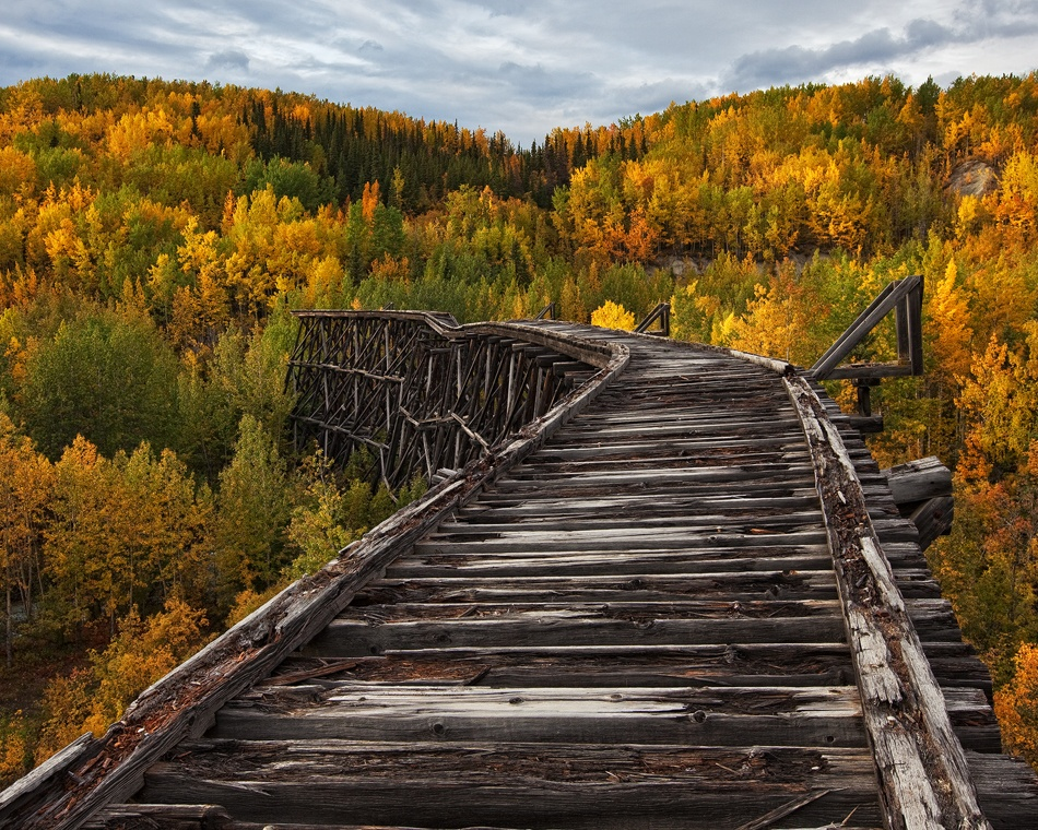 A piece of fine art art photography titled Bridge to Nowhere by Doug Roane