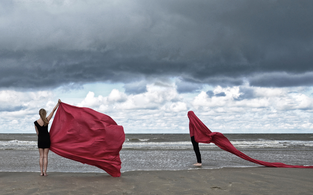 A piece of fine art art photography titled -Red- by Hans Vink