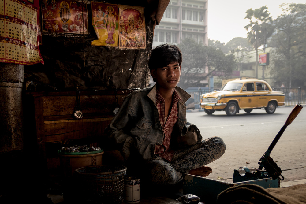 A piece of fine art art photography titled Kolkata , India by O-i miyaki