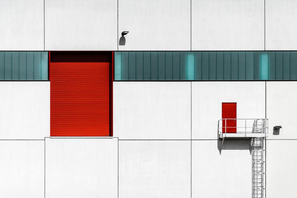 A piece of fine art art photography titled Big Door - Small Door by Luc Vangindertael (laGrange)