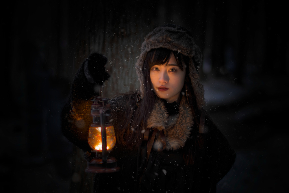 A piece of fine art art photography titled The Night Is Dark by Yuki Yatsushima