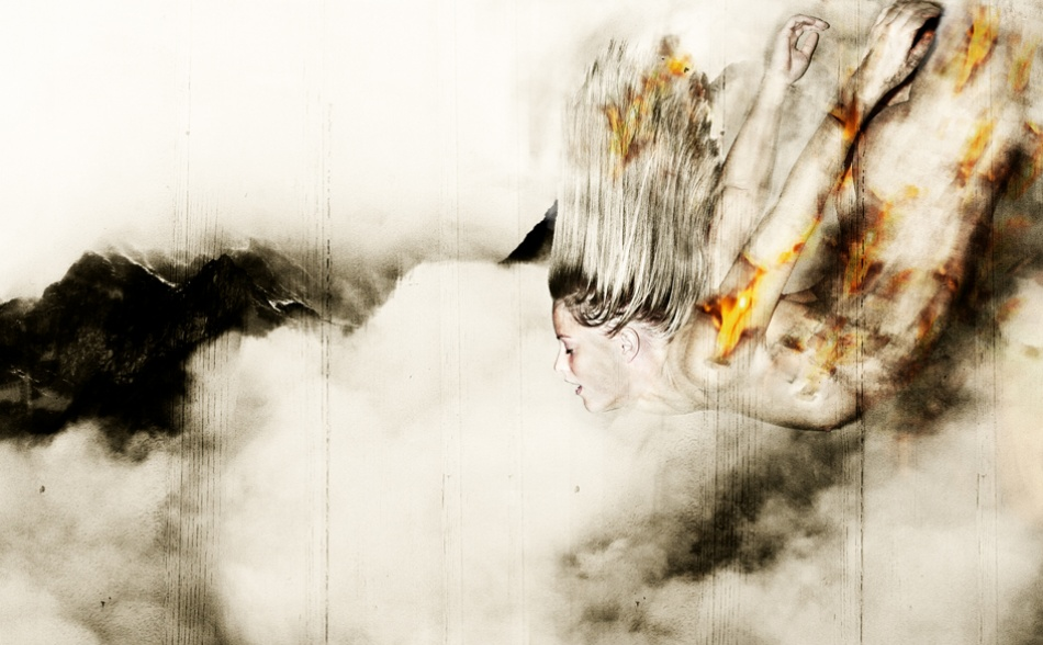 A piece of fine art art photography titled Surrender by Fredrik Ekren